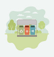 park with recycle bins vector image