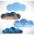 polygonal clouds vector image
