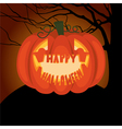 Poster Halloween night vector image vector image