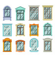 retro wood or wooden window frames view isolated vector image vector image