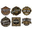 set 6 badges and logos vector image vector image