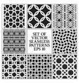 set of monochrome seamless patterns swatches of vector image