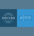 set of weather icons and logotypes of business vector image vector image