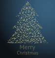 Sparkling Christmas Tree Design vector image vector image