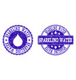 sparkling water grunge stamp seals vector image vector image