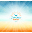 summer vacation holidays beach sea sun abstract vector image