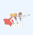 superpower doctors during coronavirus pandemic vector image