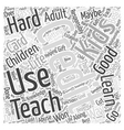 Teaching the Kids About Credit Word Cloud Concept vector image vector image