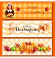 Three Thanksgiving banners vector image vector image