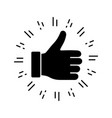 thumbs up glyph icon vector image vector image