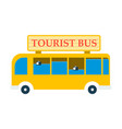 time to travel concept happy family rides bus on vector image vector image