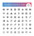 usa independence day line icons set vector image vector image