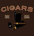 vintage luxury cigar advertisement vector image vector image