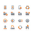 web and mobile icons 3 - graphite series vector image vector image
