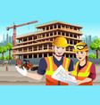 working female construction worker vector image