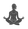 yoga pose meditating vector image