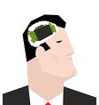 Thinking businessman Business ideas for boss vector image
