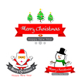043 Merry christmas text calligraphy with cartoon vector image vector image