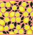 abstract lemon seamless pattern background vector image vector image