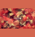 abstract multi red polygonal space background vector image vector image
