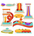 aquapark water slides and amusement park vector image