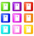 bible icons 9 set vector image vector image