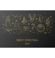 Black card for the Christmas and New Year vector image vector image