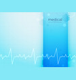 blue medical and science background with vector image vector image