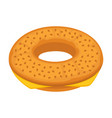 bread bun donut or cheese bagel icon for vector image vector image