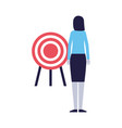 business woman with target strategy vector image vector image