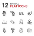 businessman icons vector image vector image