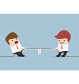 Businessmen in tug-of-war competition vector image vector image