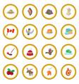 canada icon circle vector image vector image