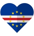 Cape Verde flat heart flag vector image