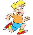 Cartoon boy running vector image vector image