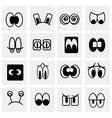 Cartoon icon set vector image
