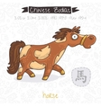 Chinese Zodiac Sign Horse vector image vector image