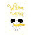 christmas card gold warm wishes vector image vector image