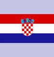 close up flag croatia vector image vector image