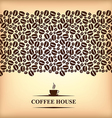 cofee horizontal backg vector image vector image