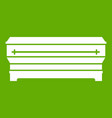 coffin icon green vector image vector image