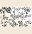 collection of calligraphic flourishes and swirls vector image vector image