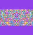 colorful doodle waves abstract psychedelic vector image vector image