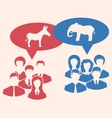 Concept of Debate Republicans and Democrats vector image