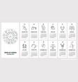 creative wall calendar 2020 with zodiac vector image