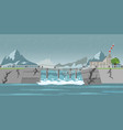 dam collapse and heavy rain drops vector image vector image
