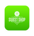 dessert shop icon green vector image