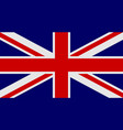 flag of united kingdom of great britain and vector image vector image