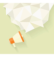 Flat icon of megaphone with bubble speech vector image vector image