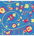 Floral seamless pattern with birds on blue vector image vector image